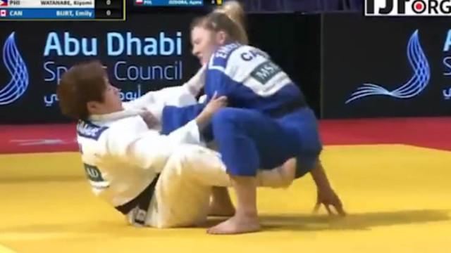 Kiyomi's Guard Play & Sweep at the recent Abu Dhabi Judo Grand Slam