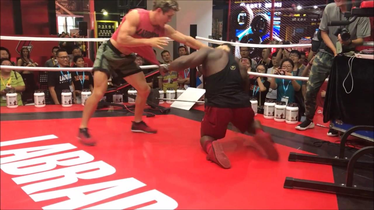 Sage Northcutt Grapples Much Bigger Bodybuilder