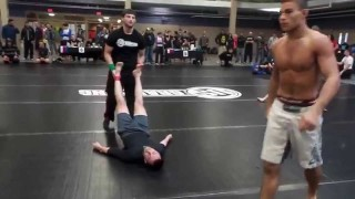 16 Year Old In Adult Advanced No-Gi Division, Puts Opponent To Sleep
