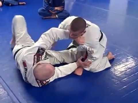 Half Guard Kimura to Upside Down Triangle