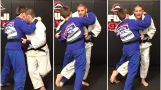 Powerful Ouchi Gari with Belt Grip- Travis Stevens