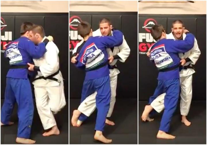 belt grip judo throw
