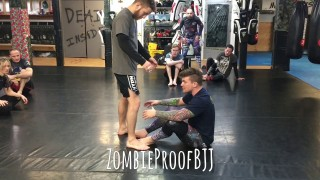 Double Outside Ashi Entry From Seated Open Guard – ZombieProofBJJ