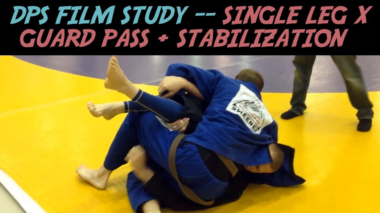 DPS Film Study – Single Leg X Guard Pass + Stabilization -Dan Sweeney