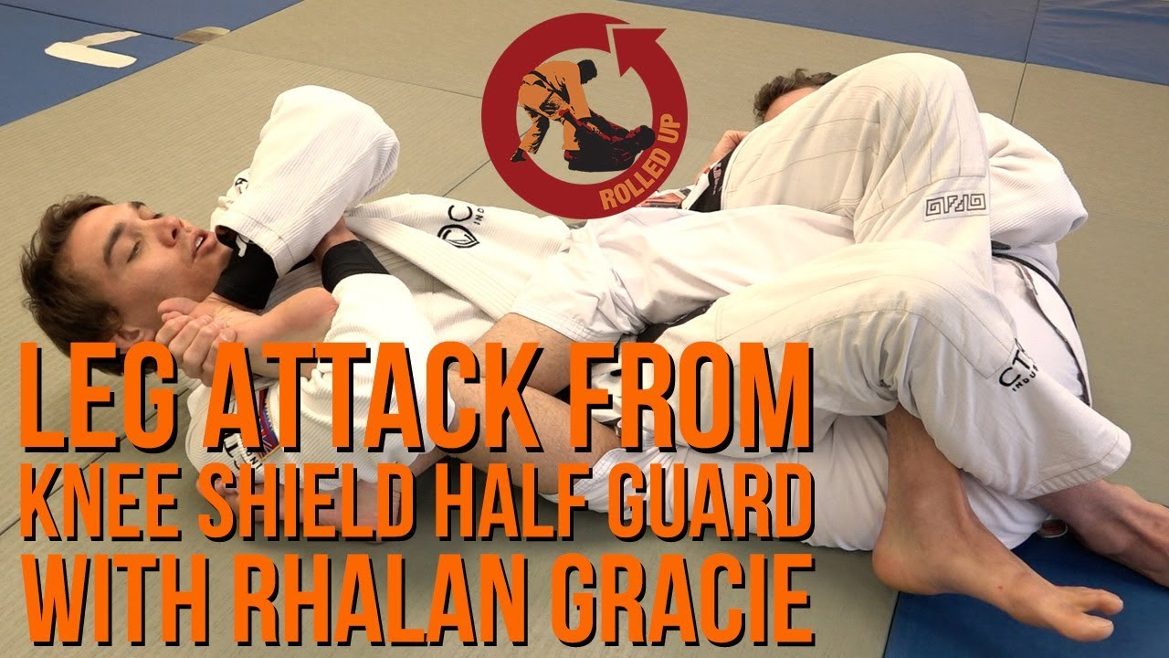 Leg attacks from the knee shield half guard – Bonus Technique 1 Rhalan Gracie