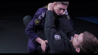 Scissor sweep to baseball choke