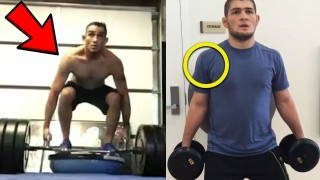 Tony Ferguson & Khabib STRENGTH Training Side By Side!