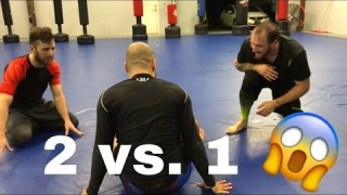 2 Guys vs 1 BJJ Black Belt –  Brandon Mccaghren