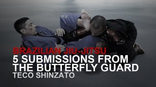 5 Submissions From Butterfly Guard! | Evolve University