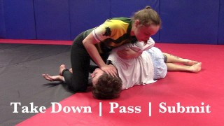 Inside Trip, Closed Guard Pass, Farside Armbar – Mark Sausser