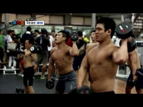 Training at the korean judo team weightlifting room WATCH BJJ