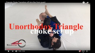 Triangle Choke Transition off Arm Bar from guard – Bjj AfterForty