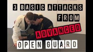 3 basic BJJ submissions from advanced open guard