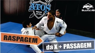Sweep From x Guard leading into Guard Pass – Andre Galvao