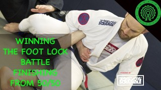Powerful Foot Lock from 50/50 guard in BJJ