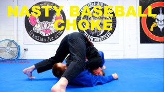 The Pop Up Baseball Bat Choke from Side Control – Make a Pillar!