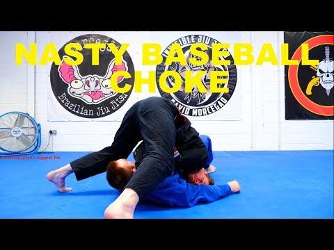 The Pop Up Baseball Bat Choke from Side Control – Make a Pillar!