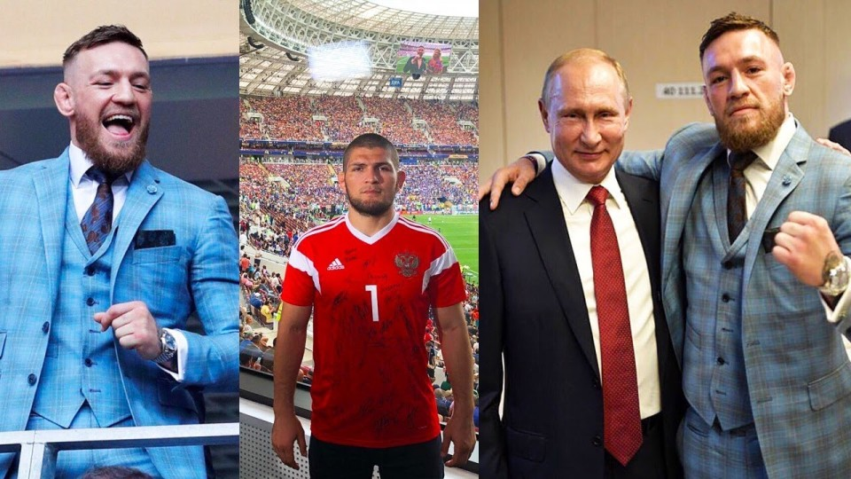 Conor, Putin & Khabib in Moscow for the World Cup