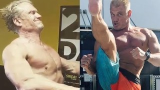 Dolph Lundgren || Training for Creed 2 || At Age 60