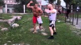 Roberto Cyborg Old School Conditioning Training in Dagestan, Russia