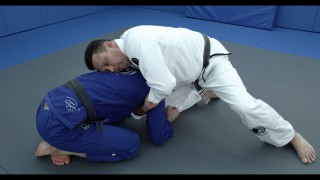 Renzo Gracie demonstrates a sleeve choke from the turtle