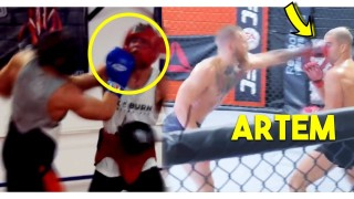 McGregor Smashing Training Partners Ahead of Khabib Bout