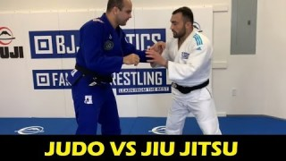 Great Throw Against BJJ Guys w/ Low Stance by Olympic Judo Champ Ilias Iliadis