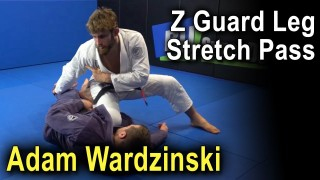 Z Guard Leg Stretch Pass by Adam Wardzinski