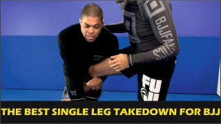 The Best Single Leg Takedown For BJJ by Andre Galvao