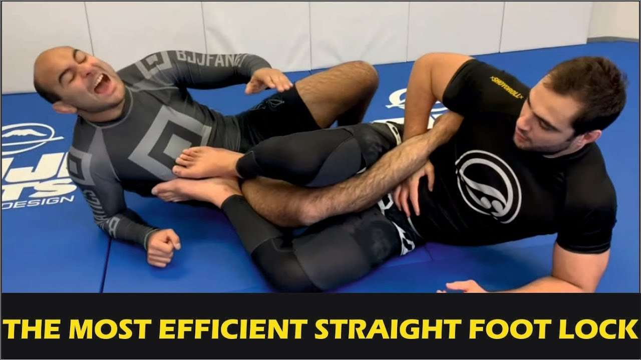 The Most Efficient Straight Foot Lock by Luiz Panza