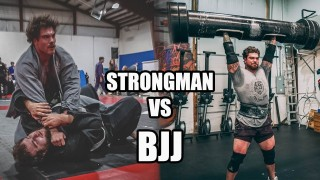 250lb Strongman champion Tries Brazilian Jiu-Jitsu