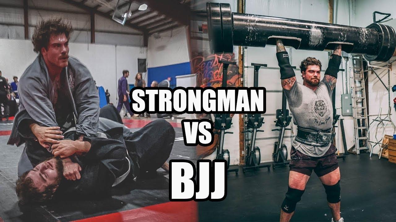 250lb Strongman champion Tries Brazilian Jiu-Jitsu