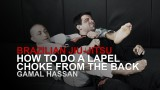 How To Do A Lapel Choke From The Back