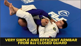 Very Simple And Efficient Armbar From BJJ Closed Guard