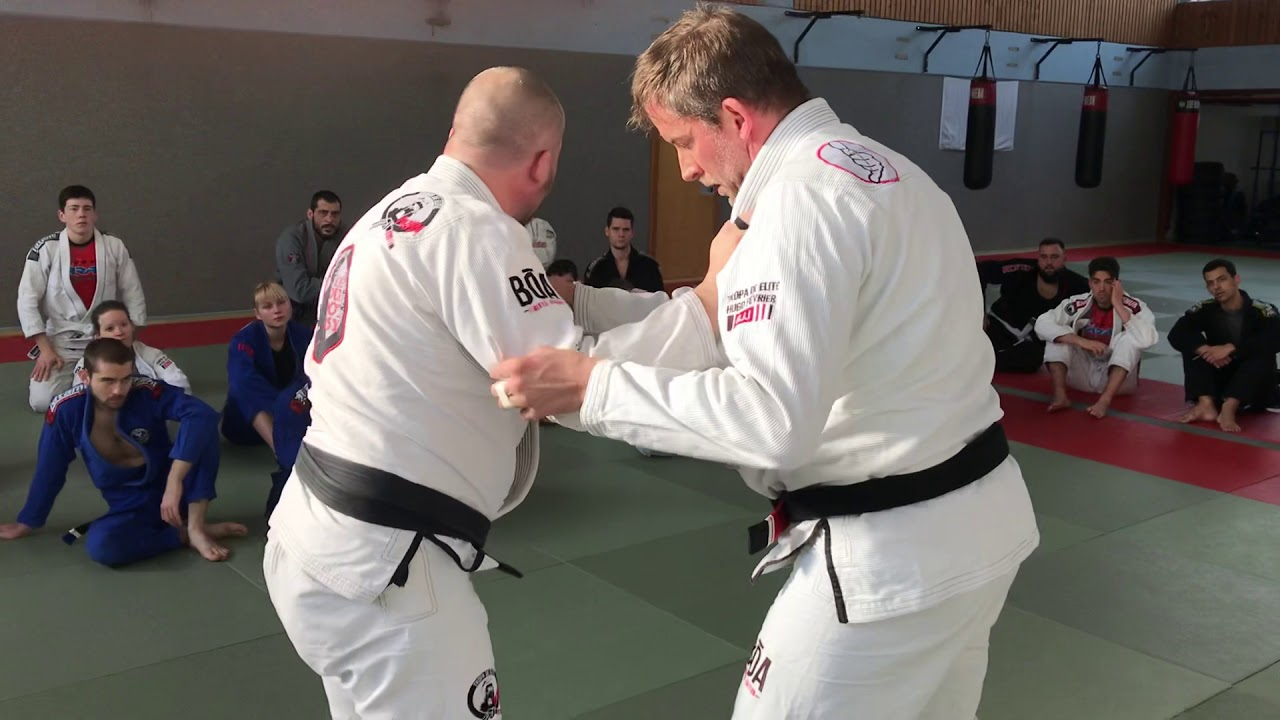 Bring your opponent to your closed guard from standing
