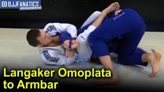Collar Sleeve Guard To Omoplata To Armbar by Tommy Langaker and Espen Mathiesen