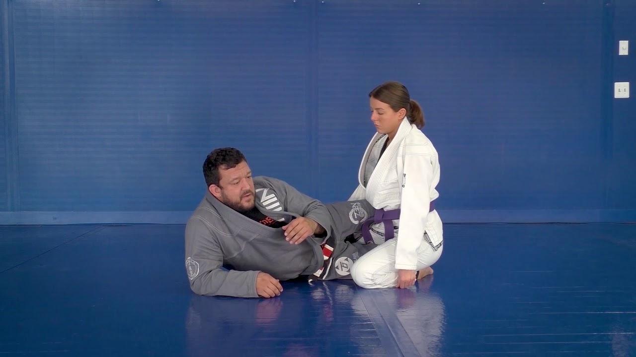 Cross Collar Lapel Grip Knee Shield Removal Near Side Low Lapel Grip to Choke by Tom DeBlass