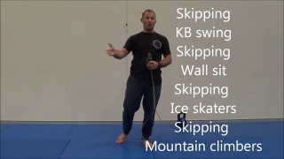 8 minute Grappling cardio smasher Kettlebell workout
