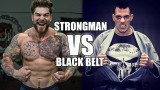 champion 250lb strongman rolls with BJJ Black belt Ricardo Migliarese