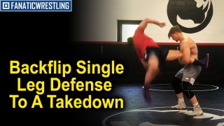 Crazy Backflip Single Leg Defense To A Takedown From All American Dan Vallimont
