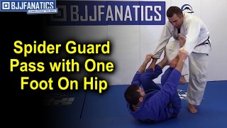 Pass Any Type Of Spider Guard with a Foot On Hip by Amaury Bitetti
