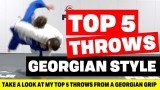 (Unorthodox Judo) Top 5 Throws From A Georgian Grip- Travis Stevens