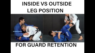 Inside vs outside leg position for guard retention – Lachlan Giles