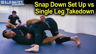 Snap Down Set Up against Single Leg Takedown by Marcelo Garcia