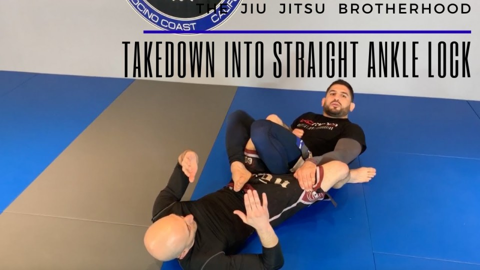 Takedown into Straight Ankle Lock
