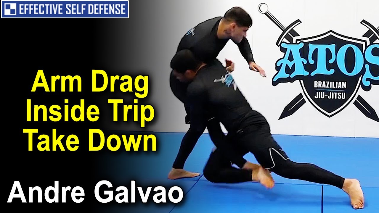 Arm Drag Inside Trip Take Down by Andre Galvao