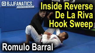 Inside Reverse De La Riva Hook Sweep by Romulo Barral