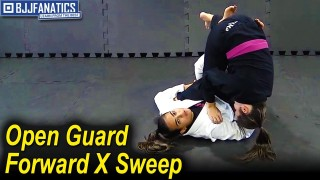 Open Guard Forward X Sweep by Bia Mesquita