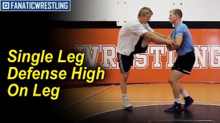 Single Leg Defense High up on the Leg by Hayden Zillmer