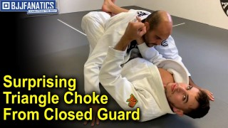 Surprising BJJ Triangle Choke From Closed Guard by Giancarlo Bodoni